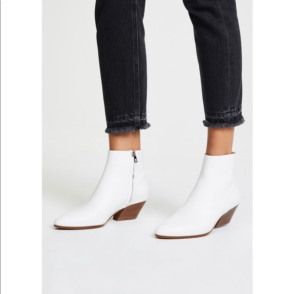 Vince Shoes | Vince White Booties Worn